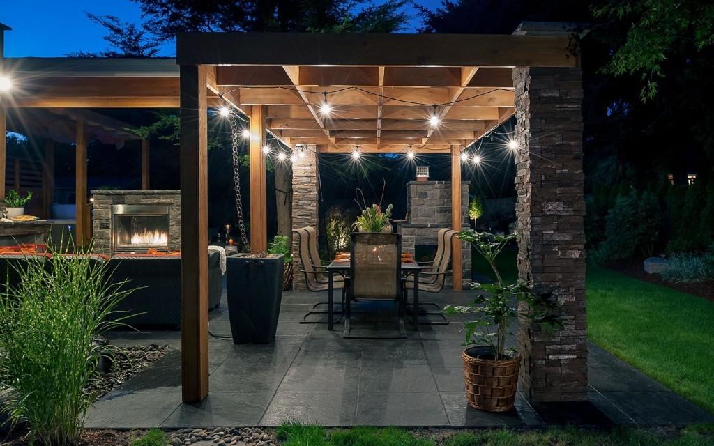 Беседки с мангалом для загородного дома