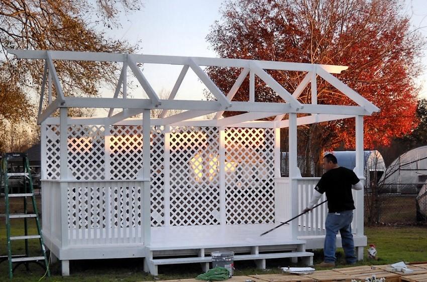 Специфика строительства дачных беседок Для того, чтобы постройка была удобной и уютной требуется организовать все стадии проекта стройки.