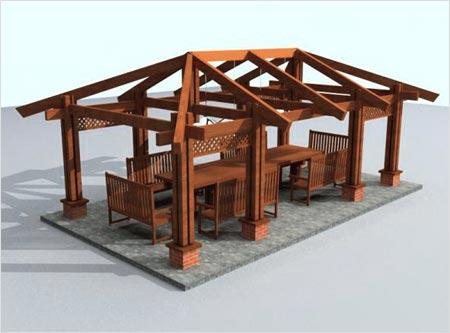 Завершающим этапом возведения конструкции, если строим беседки в саду, является сооружение крыши.