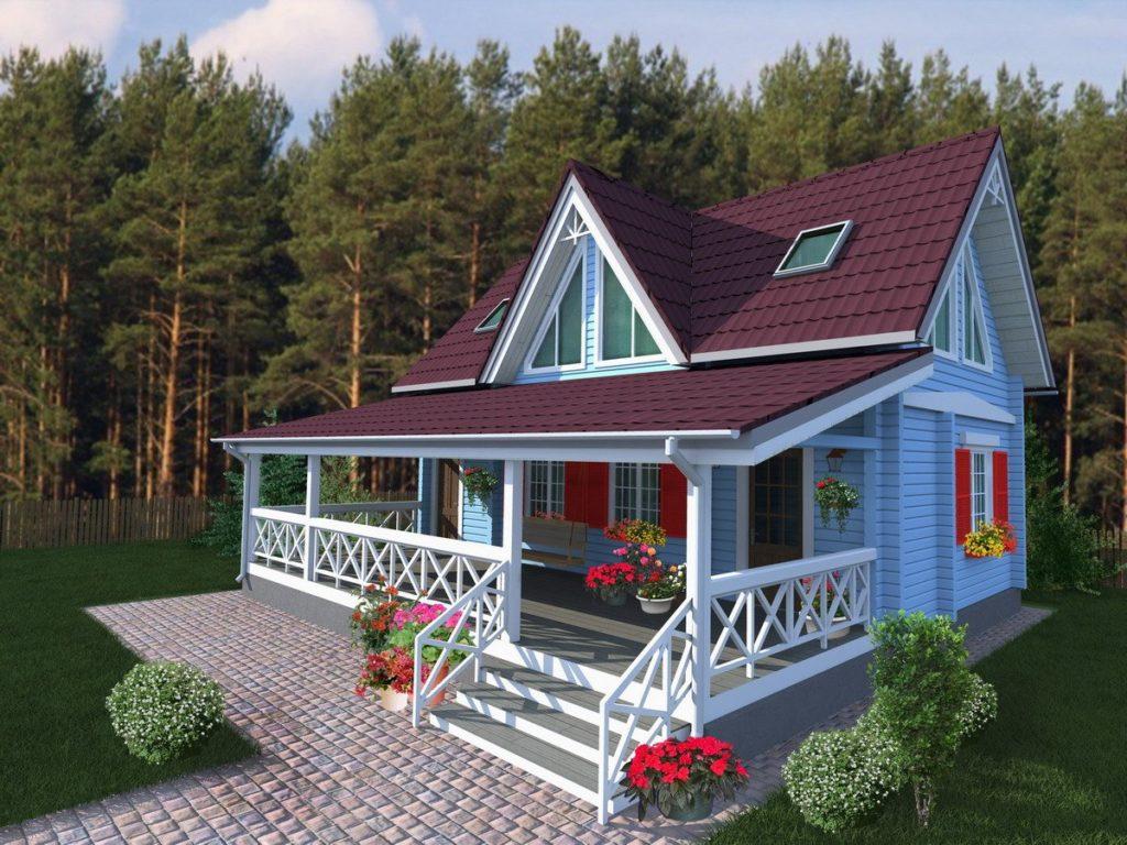 Пристроенная веранда к деревянному дому