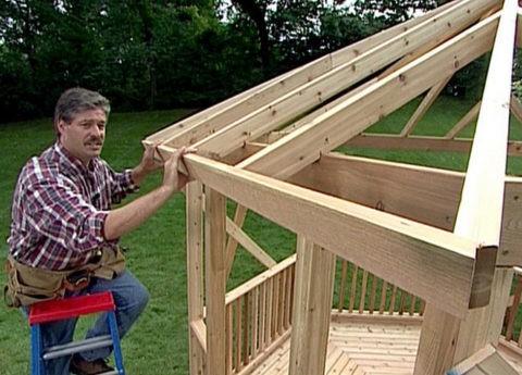 Строим крышу.