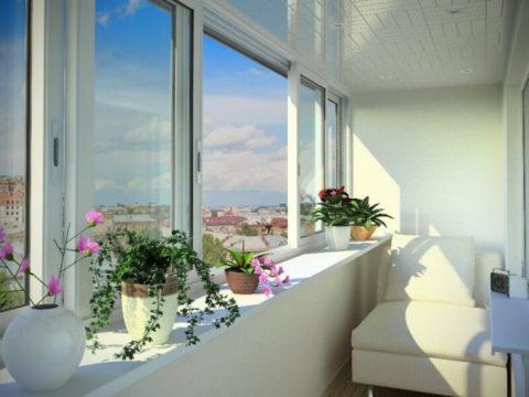 Чтобы открыть окно, цветы не нужно убирать с подоконника