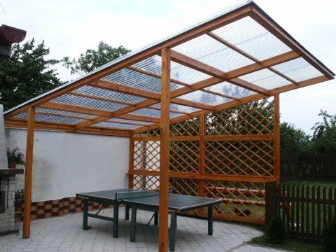 Легкая, простая конструкция, как сделать своими руками беседку на даче.