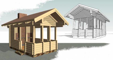 Что такое проект деревянной беседки