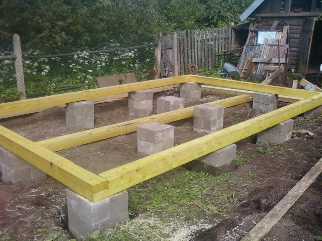 Строим фундамент для бани своими руками