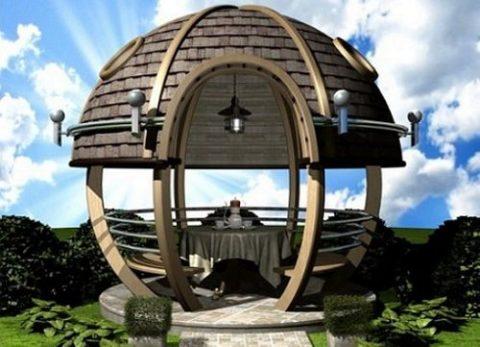 Красивая круглая конструкция.
