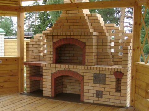 Проект деревянной беседки с русской печью.