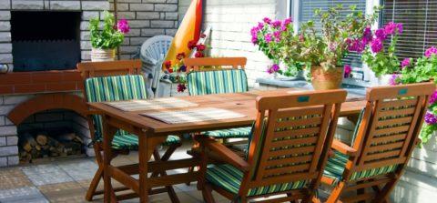 Фотосадовой мебели на летней кухне