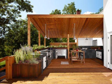 Кухонное оборудование на террасе