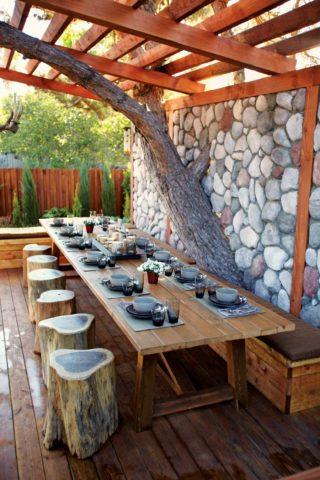 Оригинальная мебель для летней кухни