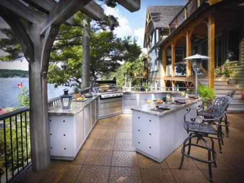 Открытое пространство кухни