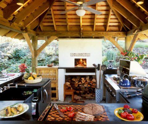 Способ организации рабочей зоны на летней кухне