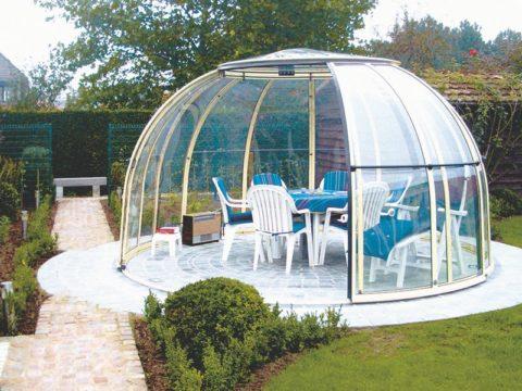 Прозрачный купол вместо беседки