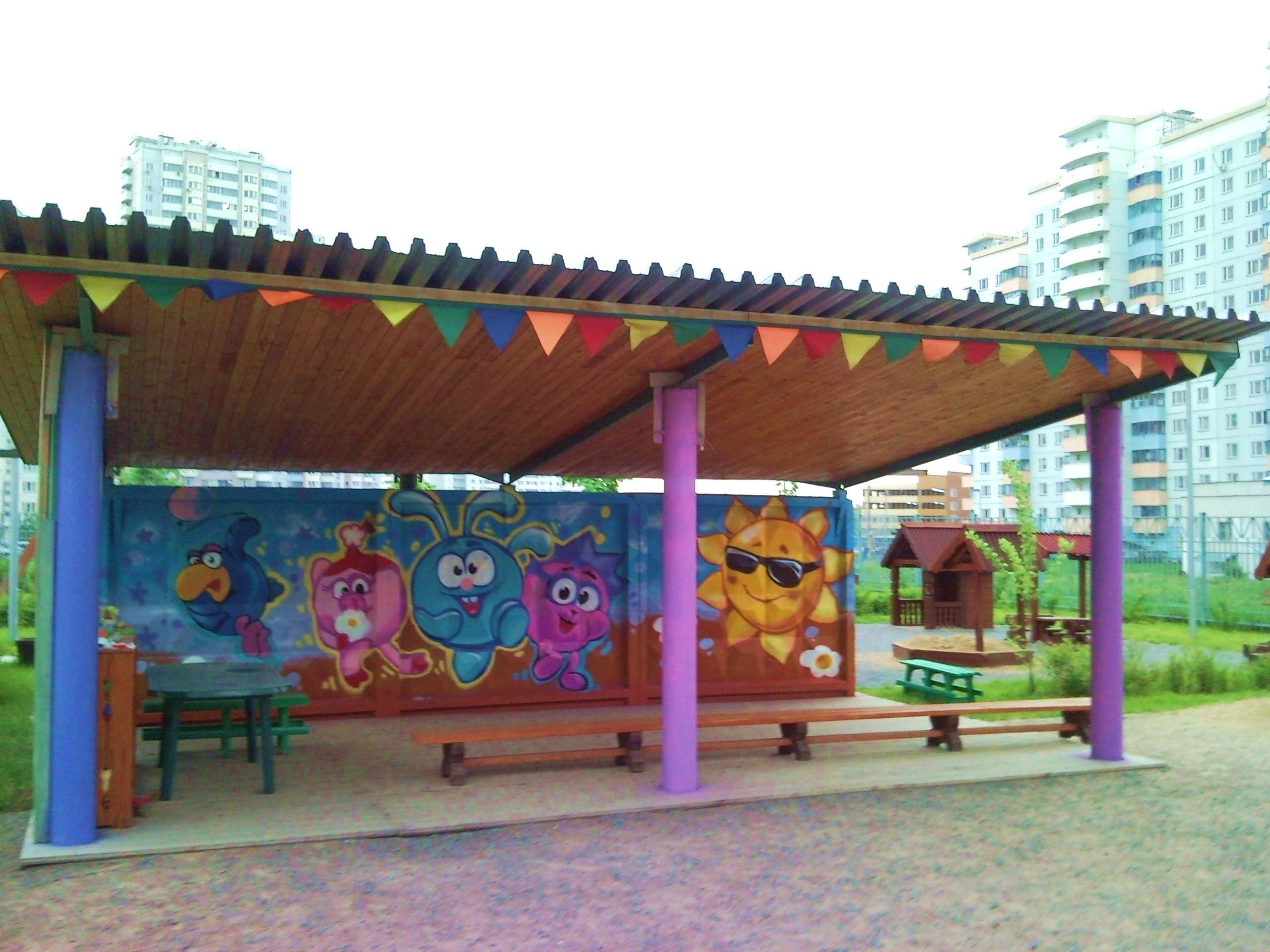Флажки на веранду в детский сад своими руками картинки