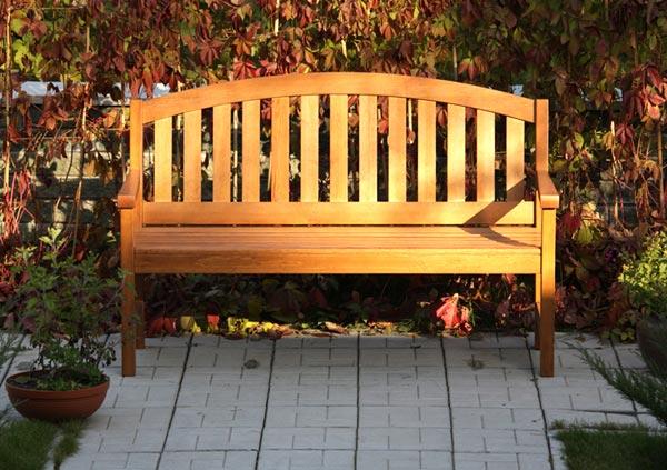 Садовая скамейка со спинкой своими руками: чертежи...