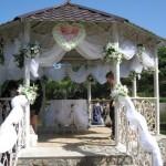 Свадебная беседка: варианты украшения