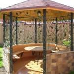 Садовая летняя беседка – оформляем сами