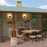 Беседка для барбекю для дачи – особенности строения