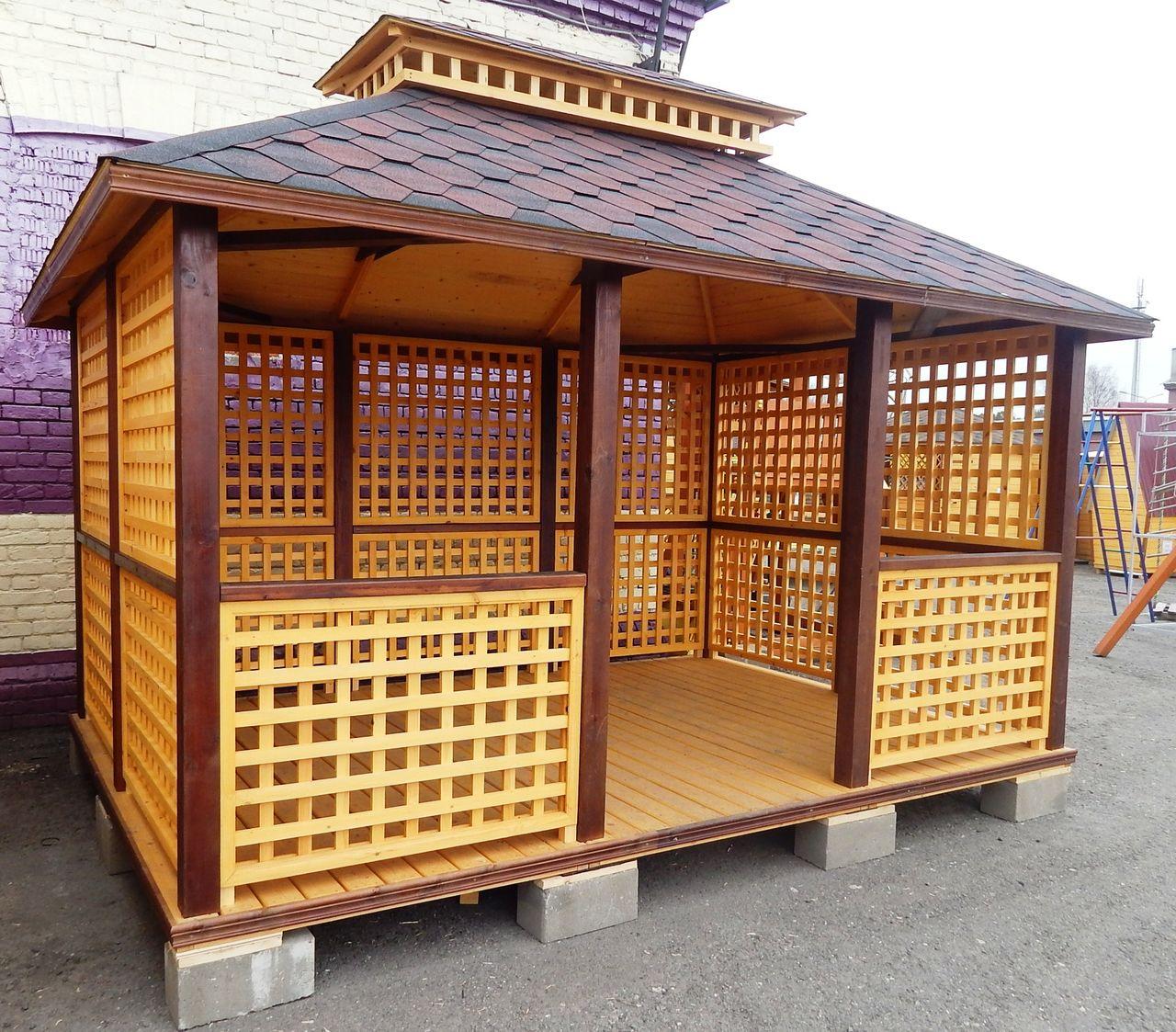 Дачные беседки  деревянные проекты беседок и садовые