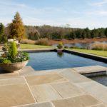 Терраса со встроенным бассейном