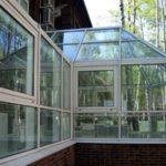 Веранда с прозрачной крышей