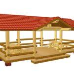 Готовая модель прямоугольной деревянной конструкции