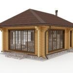 Надежная зимняя деревянная конструкция