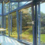 Окна раздвижные для веранды в положении «проветривание»