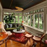 Распашные окна с фрамугой