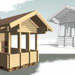 Деревянные беседки — проекты, чертежи, интересные идеи