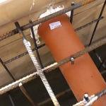 Установка закладной трубы в месте ввода коммуникаций