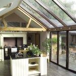 Раздвижные перегородки и стеклянная крыша
