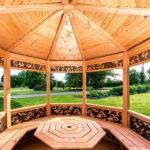 Внутренняя отделка деревянной беседки