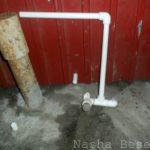 Узел с заглушкой для присоединения к домашнему водопроводу