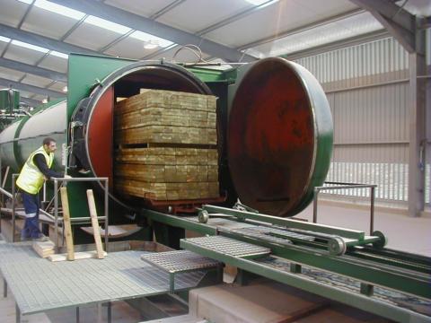 Автоклав для обработки древесины