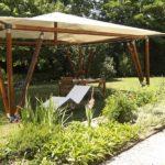 Как своими руками построить беседку: конструкция на бамбуковых опорах