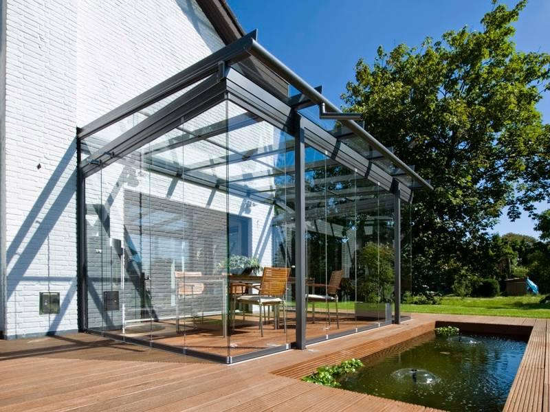 ремонт стеклянная крыша для террасы фото херли