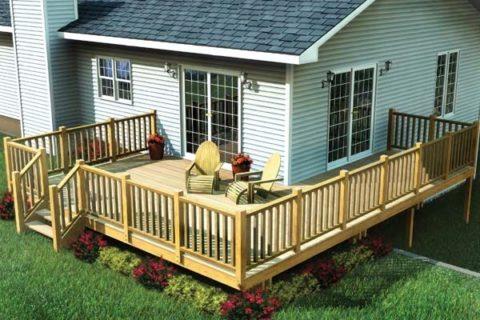 Уютная терраса из натуральной древесины