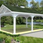 Как самому изготовить беседку: двускатная крыша на опорных столбах