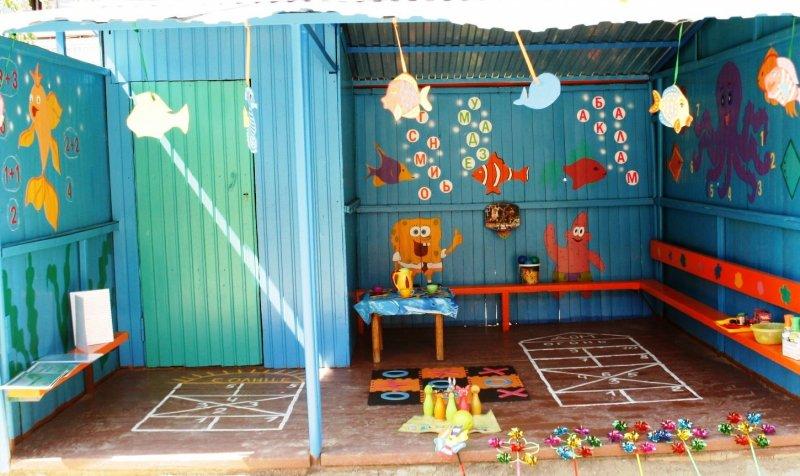Оформление детских веранд в детском саду своими руками летом