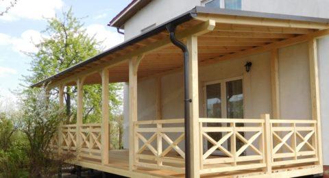 Дом с верандой из бруса