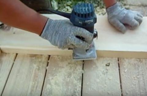 Обработка доски фрезером