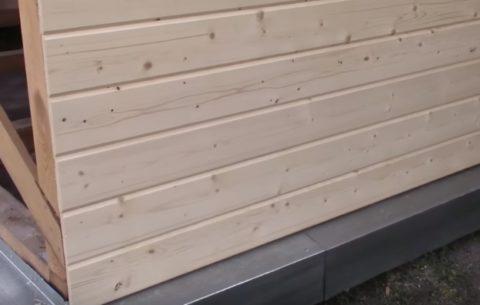 Обшитая стена