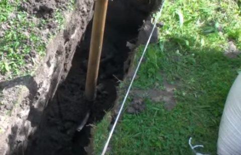 Выкапывание на нужную глубину