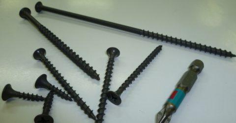 Длина черных саморезов может составлять от 16 до 152 мм
