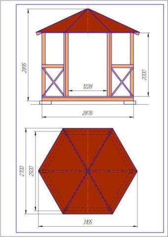 На данном изображении многогранное основание правильной формы разделено на 6 равных треугольника