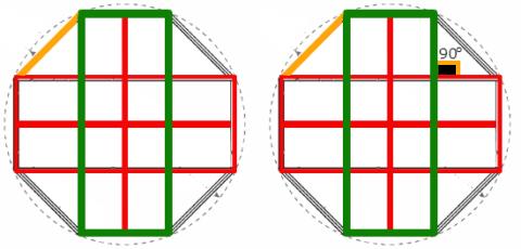 Таким образом выглядит чертеж правильной восьмигранной беседки