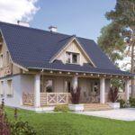 Дачный домик с пристроенной верандой