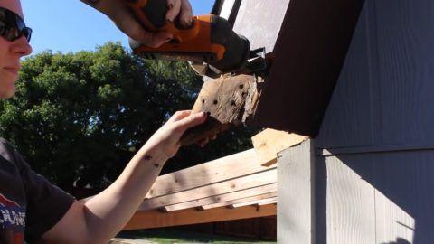 Как веранду пристроить: соединение ветровых досок