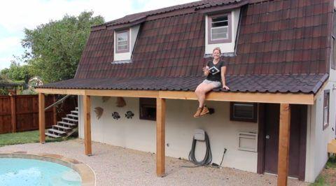 Такая крыша надежно защитит от дождя и снега